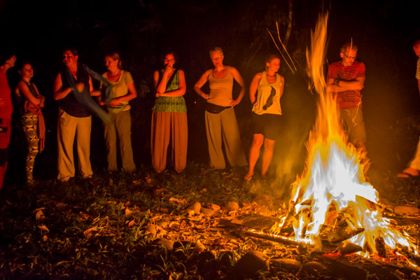 The Sacred Yoga Retreat Fire Ceremony